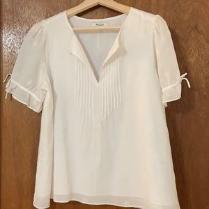 Madewell white blouse.